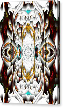 Canvas Print featuring the digital art 992.042212mirror2ornateredagold-1a-1 by Kris Haas