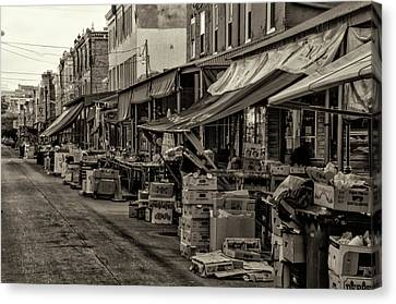 9th Street Italian Market - Philadelphia Pennsylvania Canvas Print by Bill Cannon