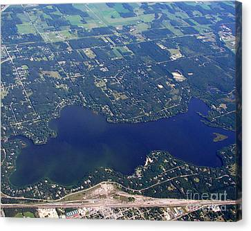 Canvas Print featuring the photograph A-007 Altoona Lake Eau Claire Wisconsin by Bill Lang