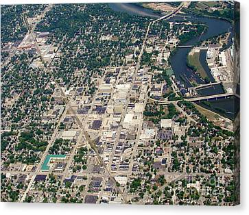 Canvas Print featuring the photograph A-011 Appleton Wisconsin Collage Avenue by Bill Lang