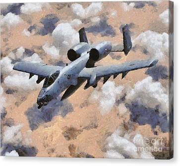 Raf Canvas Print - A-10 Tank Buster by Esoterica Art Agency