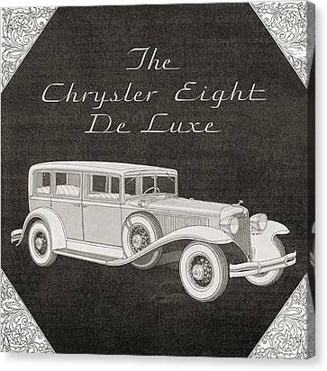 A 1930s Advertisement For A Chrysler Canvas Print by Vintage Design Pics
