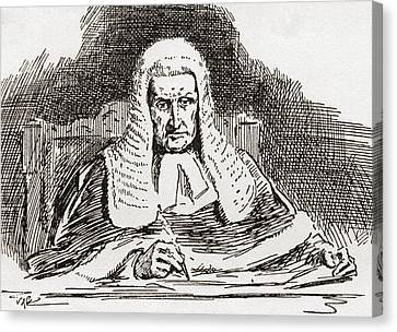 A 19th Century Old Bailey Judge. From Canvas Print