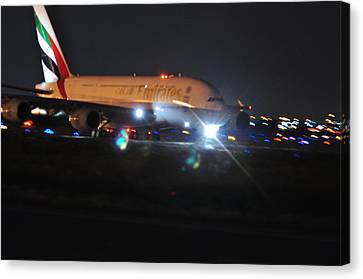 Emirates A380 Canvas Print