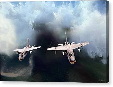 A-7 Clansmen Canvas Print by Peter Chilelli