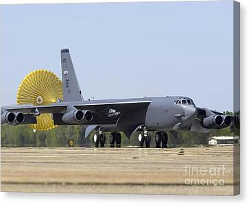 A B-52 Stratofortress Deploys Its Drag Canvas Print by Stocktrek Images