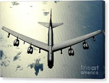 A B-52 Stratofortress In Flight Canvas Print