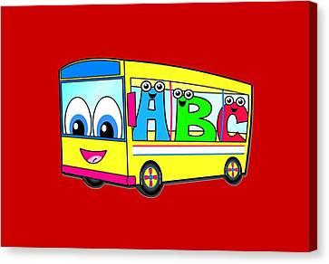 A B C Bus T-shirt Canvas Print by Herb Strobino