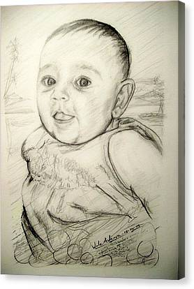 A Baby Smile Canvas Print by Wale Adeoye