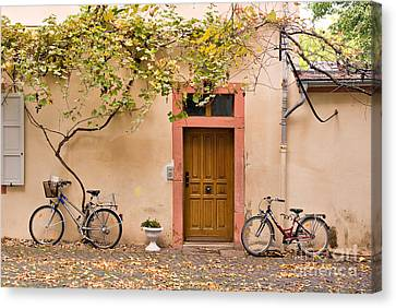 A Back Lane In Speyer Canvas Print by Louise Heusinkveld