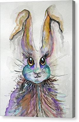 A Bad Hare Day Canvas Print by Rosemary Aubut