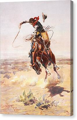 A Bad Hoss Canvas Print by Charles Russell
