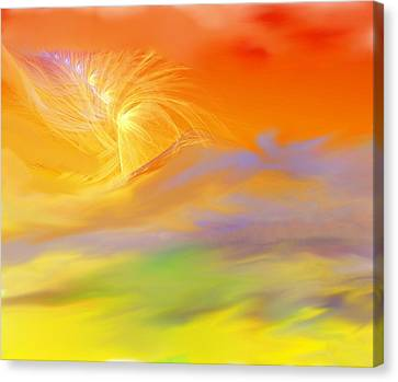 A Band Of Angels Coming After Me Canvas Print by David Lane