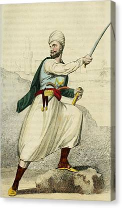 A Barbary Pirate Captain. Ca. 1800 Canvas Print