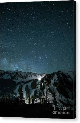 A-basin At Night Canvas Print by Juli Scalzi