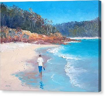 A Beach Stroll Canvas Print by Jan Matson