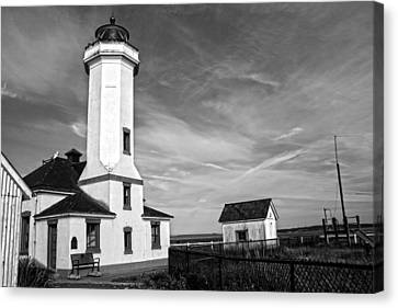 A Beacon Of Light - Bw Canvas Print by Kerry Langel