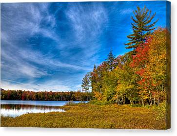 Beautiful Autumn Day Canvas Print - A Beautiful Autumn Day On West Lake by David Patterson