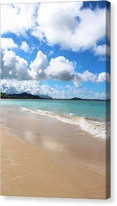 A Beautiful Day At Kailua Beach Hawaii Canvas Print by Kerri Ligatich