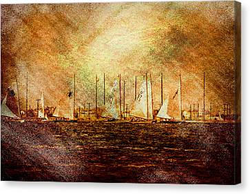 A Beautiful Day For A Sail Boat Race  Canvas Print by Geraldine Scull