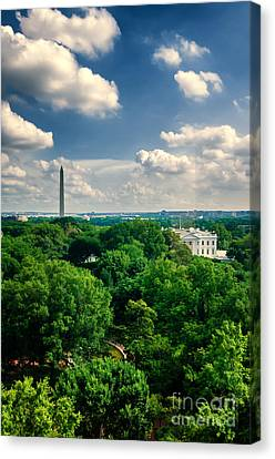 A Beautiful Day In Dc Canvas Print