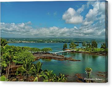 A Beautiful Day Over Hilo Bay Canvas Print