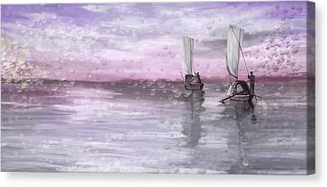 A Beautiful Morning For Fishing Canvas Print by Angela A Stanton