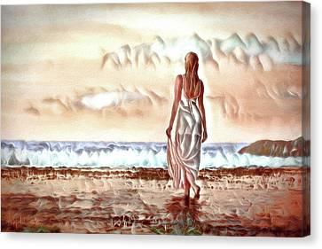 Canvas Print featuring the digital art A Beautiful World by Pennie McCracken