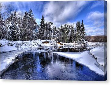 A Bend In The Moose River Canvas Print by David Patterson