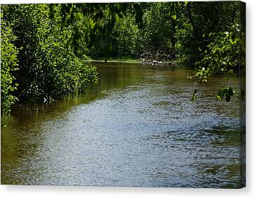 A Bend In The River Canvas Print by Ron Read