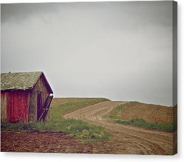 A Bend In The Road Canvas Print by Odd Jeppesen