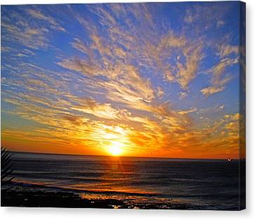 Sky Blue Canvas Print - A Better Tomorrow by Michael Durst