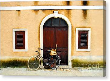 A Bicycle In Croatia Canvas Print
