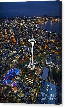A Birds-eye View Of Seattle Canvas Print