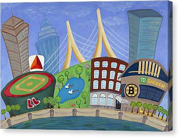 A Bit O' Boston Canvas Print