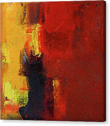 Canvas Print featuring the painting A Bit Of Red by Nancy Merkle