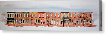 A Bit Of Scott Street  7x30 Canvas Print