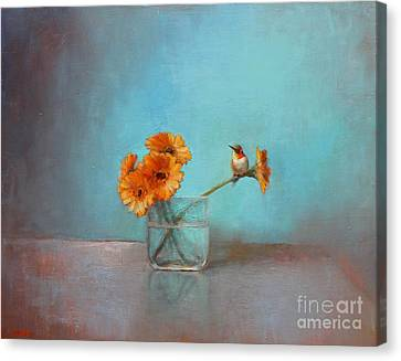 A Bit Of Summer Canvas Print by Lori  McNee