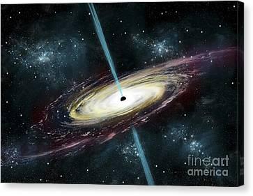 A Black Hole In Interstellar Space Canvas Print by Marc Ward