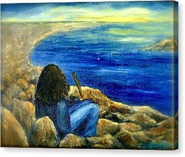 A Blue Day Canvas Print by Gail Kirtz