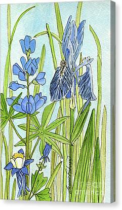 A Blue Garden Canvas Print by Laurie Rohner