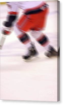 A Blur Of Ice Speed Canvas Print by Karol Livote