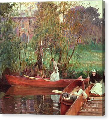 A Boating Party  Canvas Print by John Singer Sargent