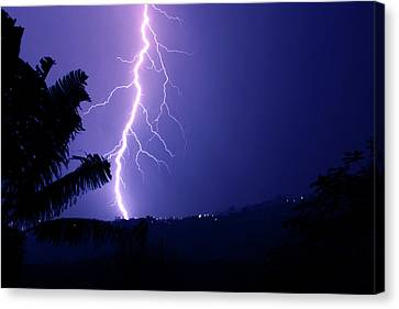 Canvas Print featuring the photograph A Bolt From The Blue by Odille Esmonde-Morgan