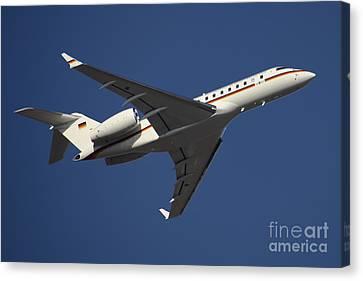A Bombardier Global 5000 Vip Jet Canvas Print by Timm Ziegenthaler