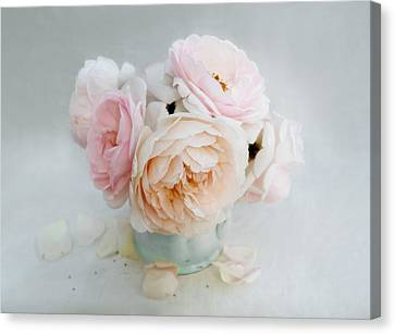 A Bouquet Of June Roses Canvas Print