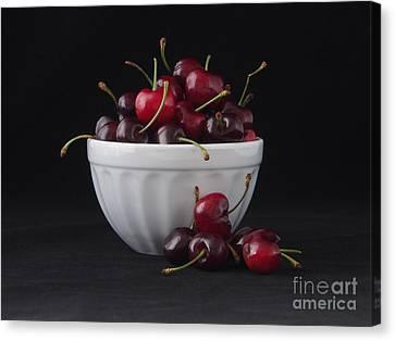 A Bowl Full Of Cherries Canvas Print