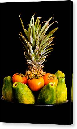 A Bowl Of Hawaiian Fruit Canvas Print by Roger Mullenhour