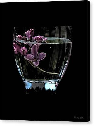A Bowl Of Lilacs Canvas Print by Marija Djedovic
