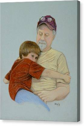 A Boy And His Dad Canvas Print by Pat Neely